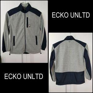 Ecko Unltd Men Full Zipper Jacket Fleece Size XL